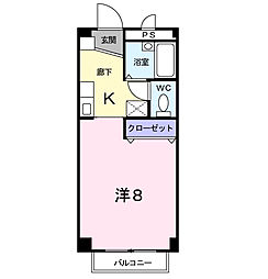 ドエルリバーサウス A棟[1階]の間取り
