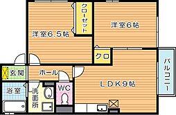 エボリューション[2階]の間取り