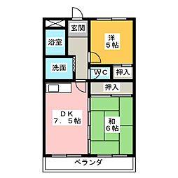 ハイツサイネリア[5階]の間取り
