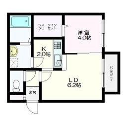 MONI HIBARIGAOKA(モニヒバリガオカ)[3階]の間取り