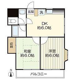 サンテリア三田[3階]の間取り