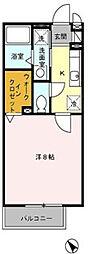 神奈川県秦野市南矢名5丁目の賃貸アパートの間取り