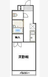 コンフォート武蔵浦和[105号室]の間取り