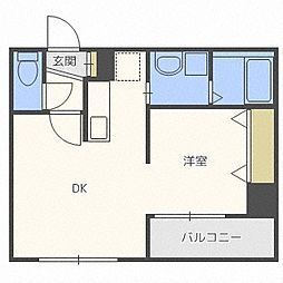レジデンスタワー札幌[1403号室]の間取り