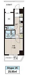 レオーネ高島平 6階1Kの間取り