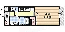 ROOMs六甲 2階1Kの間取り