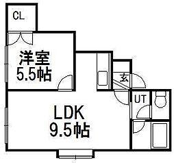 モアハイツA[103号室]の間取り