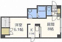 エスポワール204(9階建)[7階]の間取り