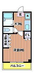 東京都武蔵村山市大南4丁目の賃貸マンションの間取り