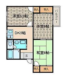 グレースハイムA[2階]の間取り