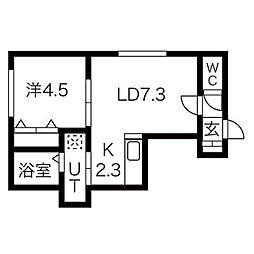 ヴィバーチェ麻生[3階]の間取り