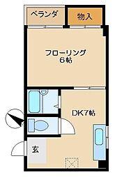 東京都江戸川区平井4丁目の賃貸マンションの間取り