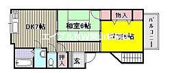 シャトレ下中野[3階]の間取り