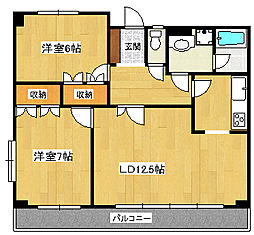 桜ヶ丘パールハイツ[1階]の間取り