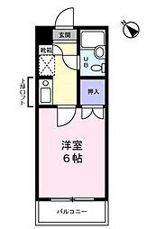サンノーブル勝田台[307号室]の間取り