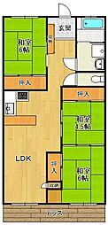 ドゥエリング北夙川[2階]の間取り