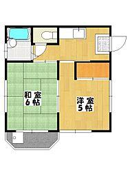 メーテルハイツ[2階]の間取り