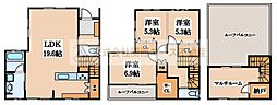 [一戸建] 大阪府堺市堺区緑ヶ丘北町3丁 の賃貸【/】の間取り