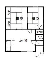 成川マンションC[202号室]の間取り