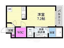 京阪本線 藤森駅 徒歩8分の賃貸マンション 5階1Kの間取り