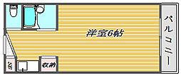 東京都板橋区徳丸4丁目の賃貸マンションの間取り