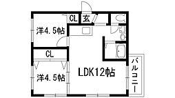 クレアハイツ雲雀丘[1階]の間取り