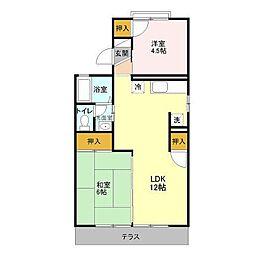 吉川タウンハウス II[1階]の間取り