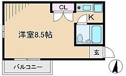ハイム石原[2階]の間取り