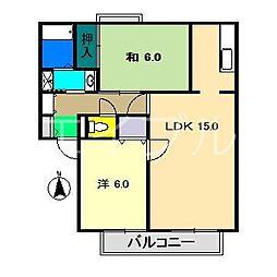 イチゴハイツII A棟[1階]の間取り
