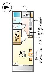 愛知県名古屋市港区川間町3丁目の賃貸マンションの間取り