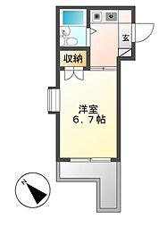 ジョイフル本山[4階]の間取り