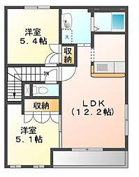 モダン[2階]の間取り