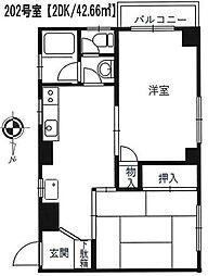 COM'S−1[2階]の間取り