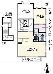クオーレ[2階]の間取り