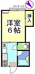 静修寮[203号室]の間取り