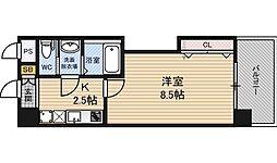 ラグゼ新大阪EAST2 9階1Kの間取り