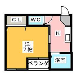 サライ西古松[2階]の間取り