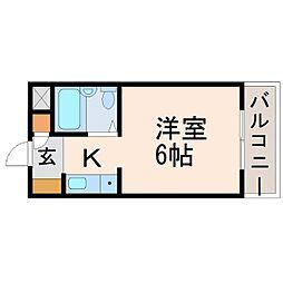 ダイドーメゾン門戸II[2階]の間取り