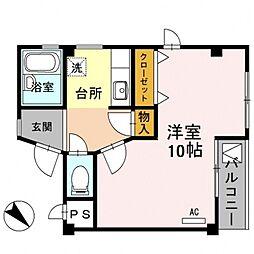 メゾンド・U唐崎[302号室号室]の間取り