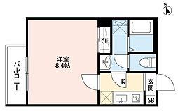 JR総武本線 千葉駅 徒歩9分の賃貸アパート 2階1Kの間取り