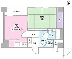 ライオンズマンション蒲田[1階]の間取り