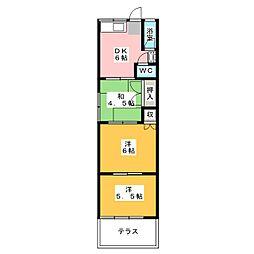 コーポ高砂[2階]の間取り
