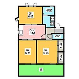 メゾン ド フォレB[1階]の間取り