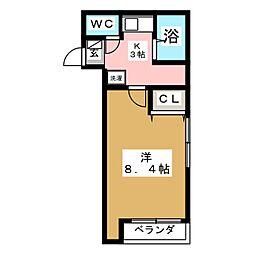 プランドビル土樋[4階]の間取り