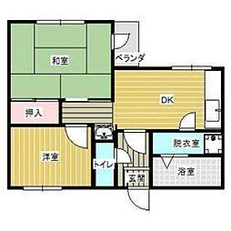島田ハイツII[205号室]の間取り