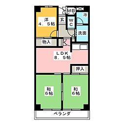 サンベアーマンション金山 1206[12階]の間取り