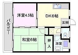 長谷川ハイツ[205号室]の間取り