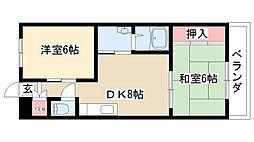 愛知県名古屋市瑞穂区妙音通3の賃貸マンションの間取り