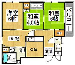 忍ヶ丘マンション[4階]の間取り