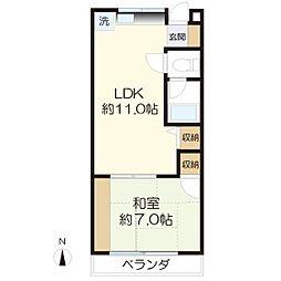 松澤コーポ[206号室]の間取り